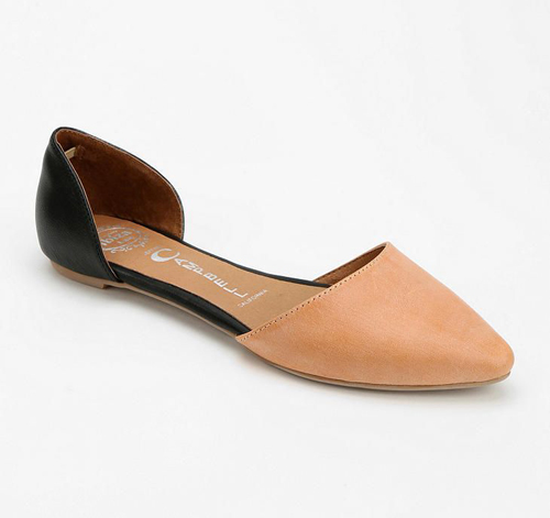 Jeffrey Campbell In Love Leather D'Orsay Flat
