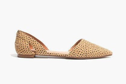 Madewell D'Orsay Flat in Spot Dot $75