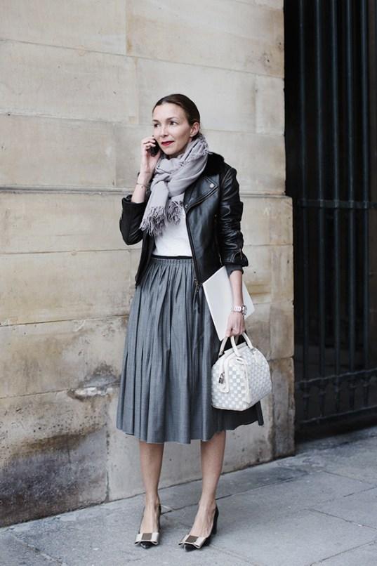 The-Sartorialist-Grey-Midi-Skirt
