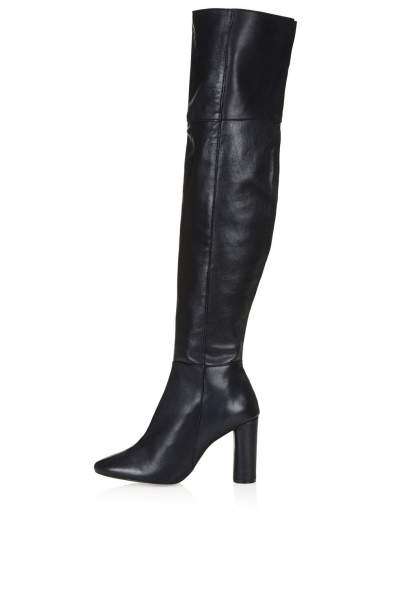 TopShop COLLIDE LEATHER OVER KNEE BOOTS $210