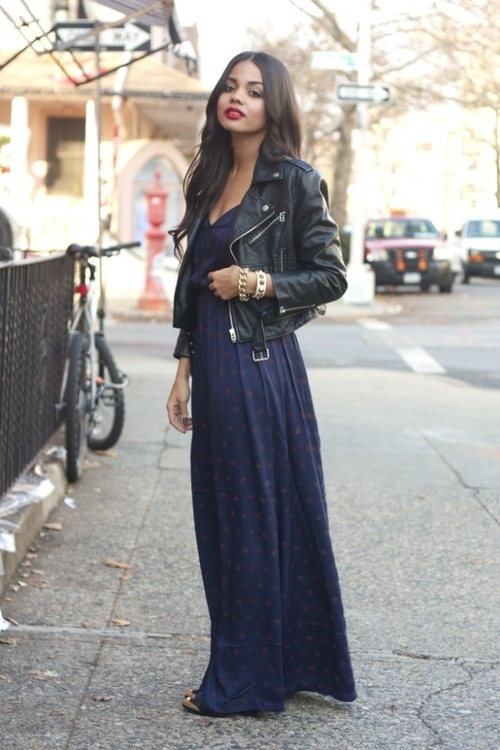 maxi dress + moto jacket-11