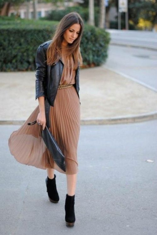 maxi dress + moto jacket-6