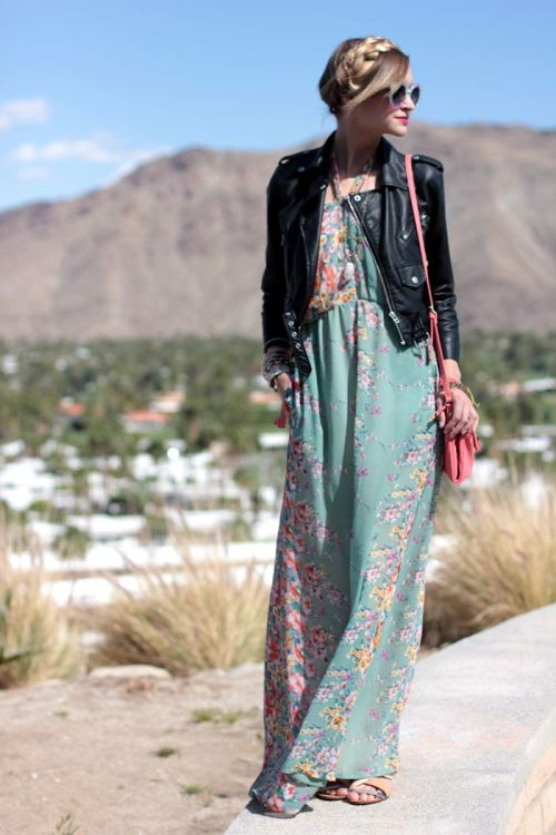 maxi dress + moto jacket-8