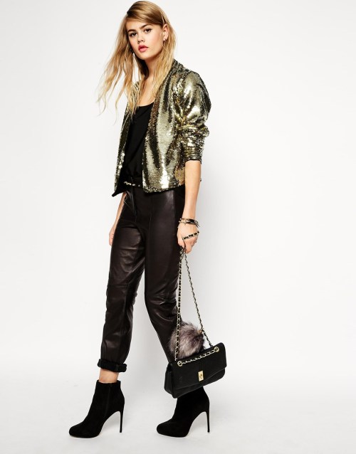 ASOS Blazer with Two-Tone Sequins