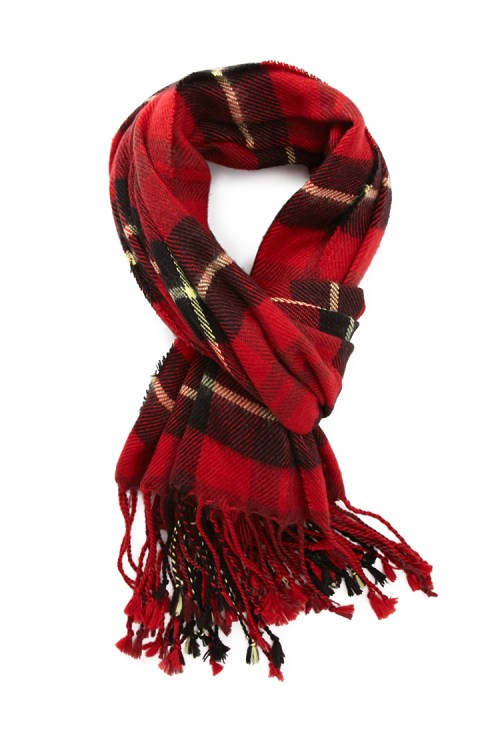 Forever-21-tasseled-tartan-plaid-scarf