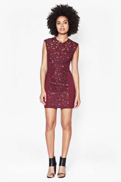 French-Connection-Encrusted-Lace-Dress