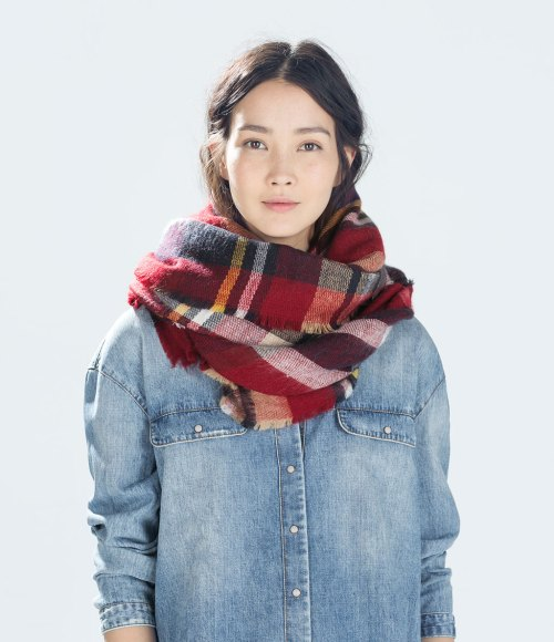 Zara-checked-Scarf-2