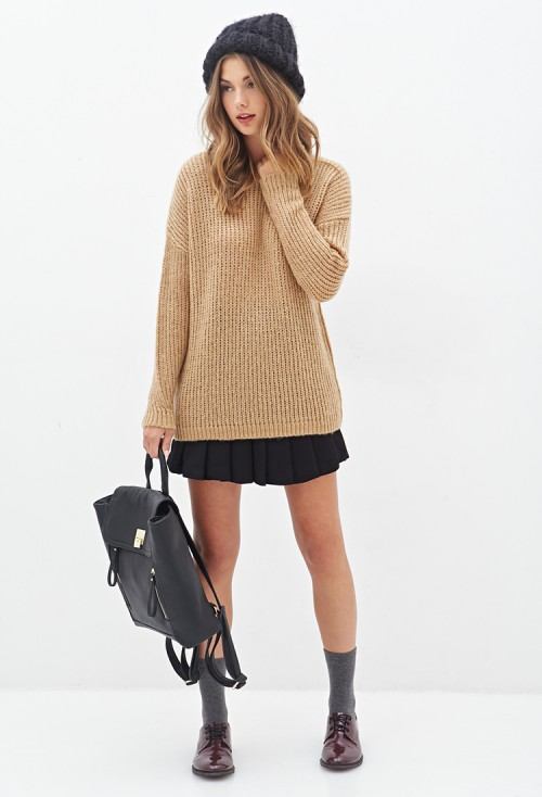 Forever-21-Drop-Sleeve-Sweater-slouchy-knit-sweater