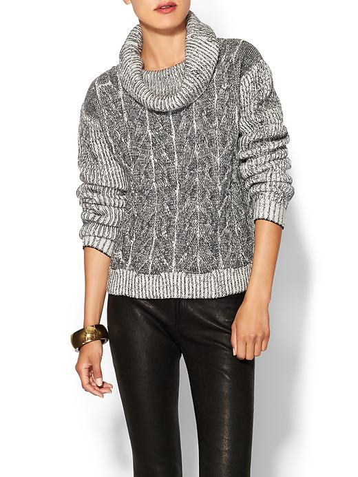Milly Braided Cable  Sweater