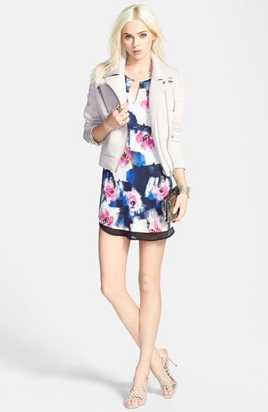 ASTR Double Layer Shift Dress