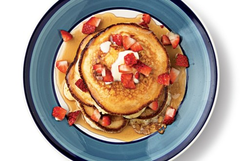 Strawberry Griddle Pancakes