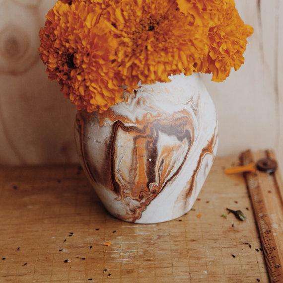 HawkeyeAndTrapper Vintage NEMADJI Pottery Vase Earthy Crock or Planter