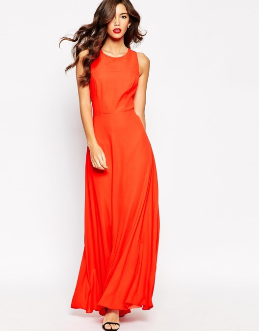 ASOS Crock Back Maxi Dress