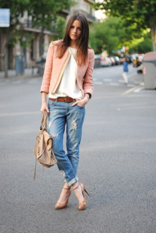 Distressed Denim Chanel Blazer