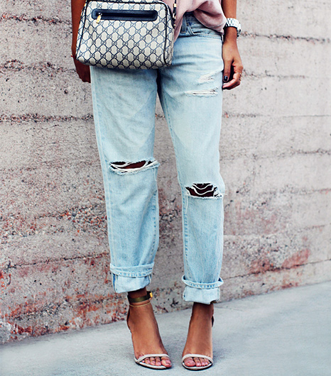 Distressed denim