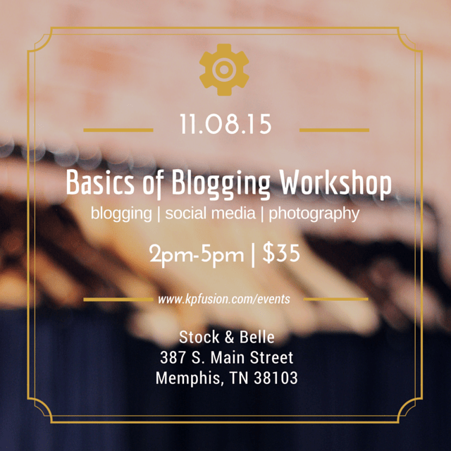 Basics of Blogging-Workshop-112015