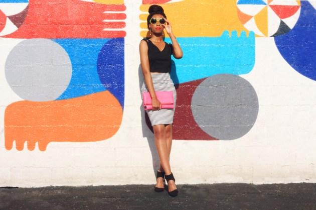 KP Fusion x Crazy Beautiful Summer Trends-Crop Top-Striped-Skirt-2