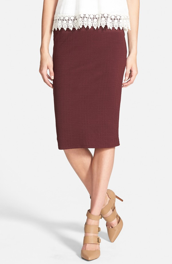 Leith Textured Tube Skirt