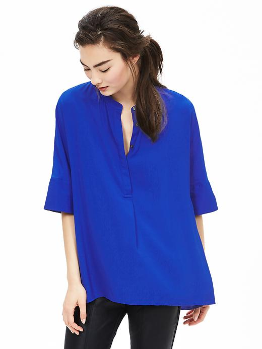 Banana Republic Drapey Dolman-Sleeve Blouse