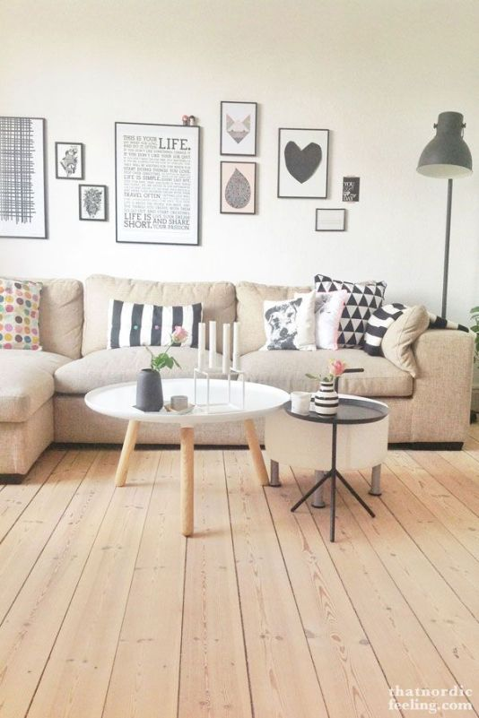 wooden floors and textured pillows
