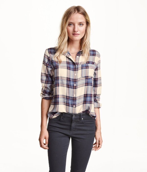 HM Plaid Cotton Shirt