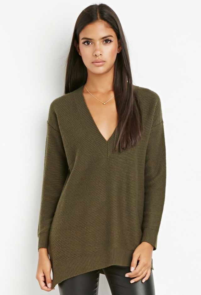 Oversized V-Neck Sweater Forever 21