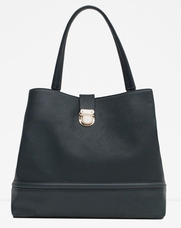 Holdall With Metallic Clasp, Zara, $70