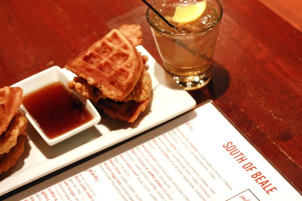 Chicken-Waffle-Sliders-South-of-Beale-Memphis