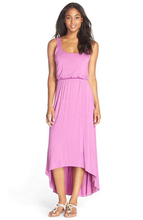 FELICITY & COCO High Low Hem Jersey Tank Dress