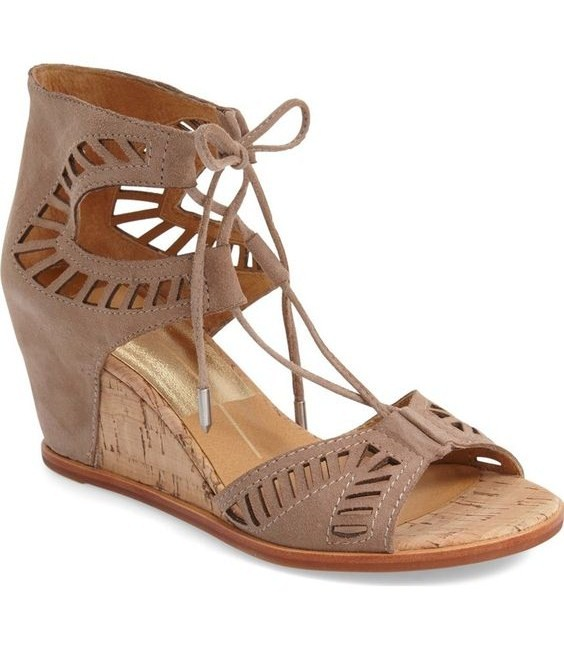 Dolce Vita 'Linsey' Lace-Up Wedge Sandal