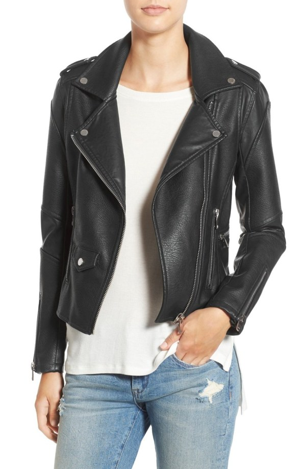 'Easy Rider' Faux Leather Moto Jacket
