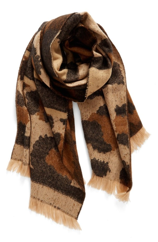 Mixed Leopard Pattern Scarf