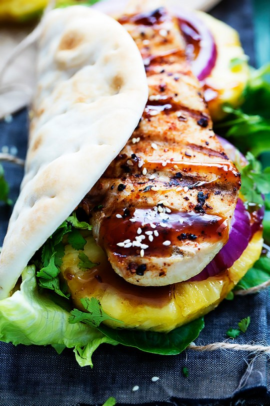 grilled-pineapple-teriyaki-chicken-wraps