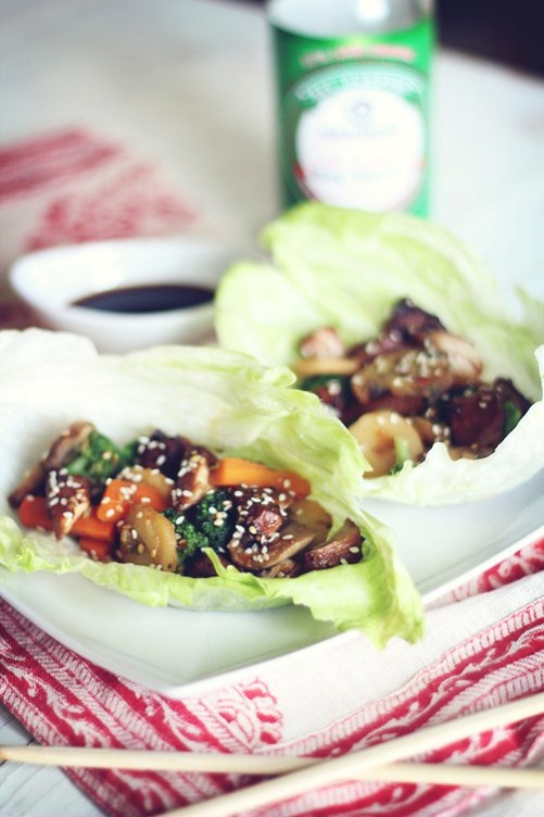 teriyaki-chicken-lettuce-wraps