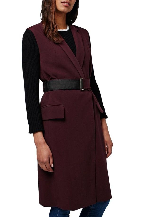 topshop-sleeveless-belted-coat
