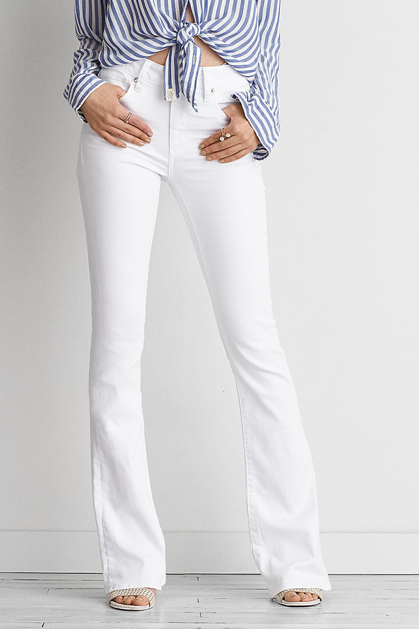 Trend to Try | White Flare Denim