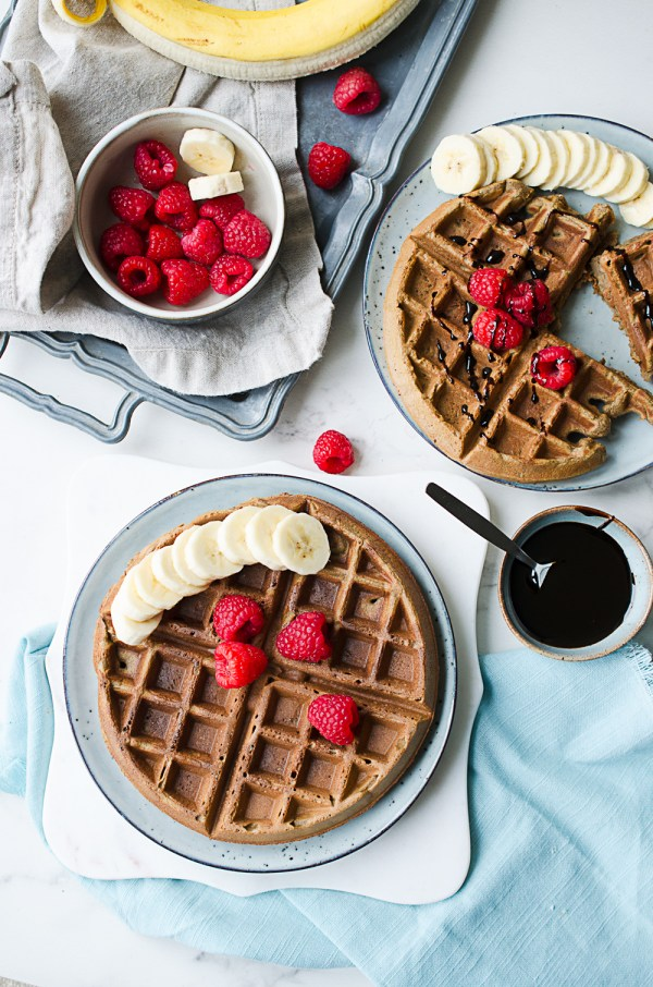 Gluten Free Molasses Banana Bread Waffles