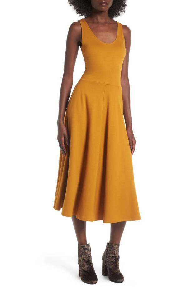 Stretch Knit Midi Dress
