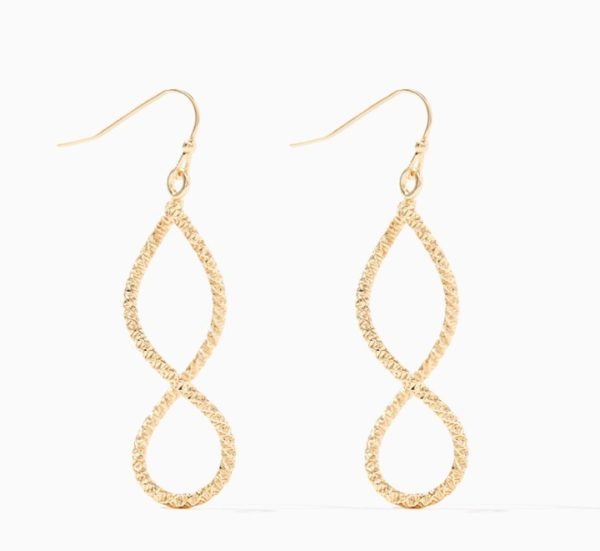 TEXTURED SWIRL DROP EARRINGS