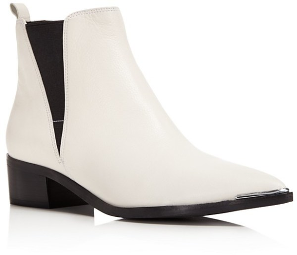 Marc Fisher LTD. Yale Leather Pointed Toe Chelsea Booties