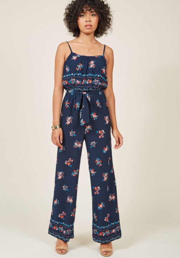 ModCloth Collective Confidence Floral Jumpsuit