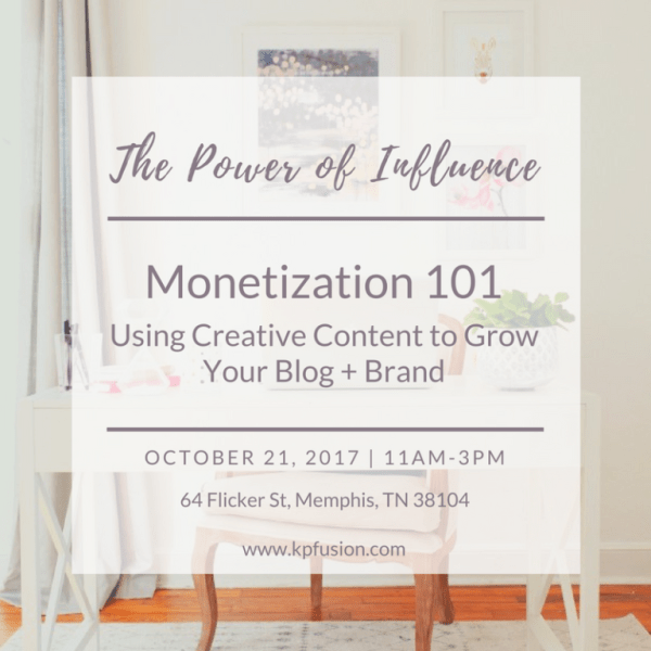 The Power of Influence-Monetization 101