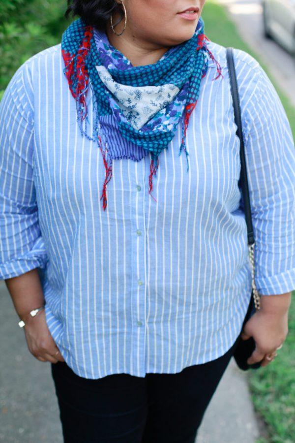 black-denim-striped-shirt