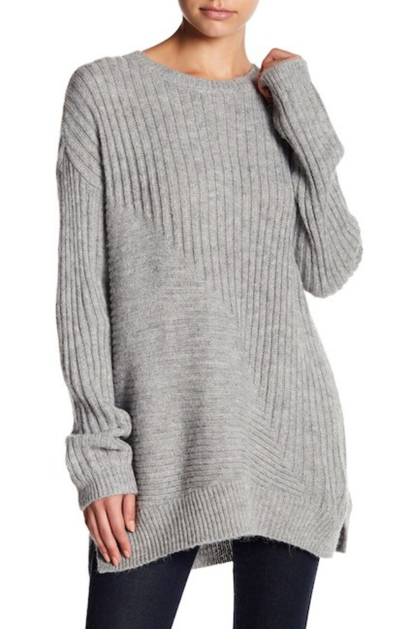 Abound Ribbed Tunic Sweater