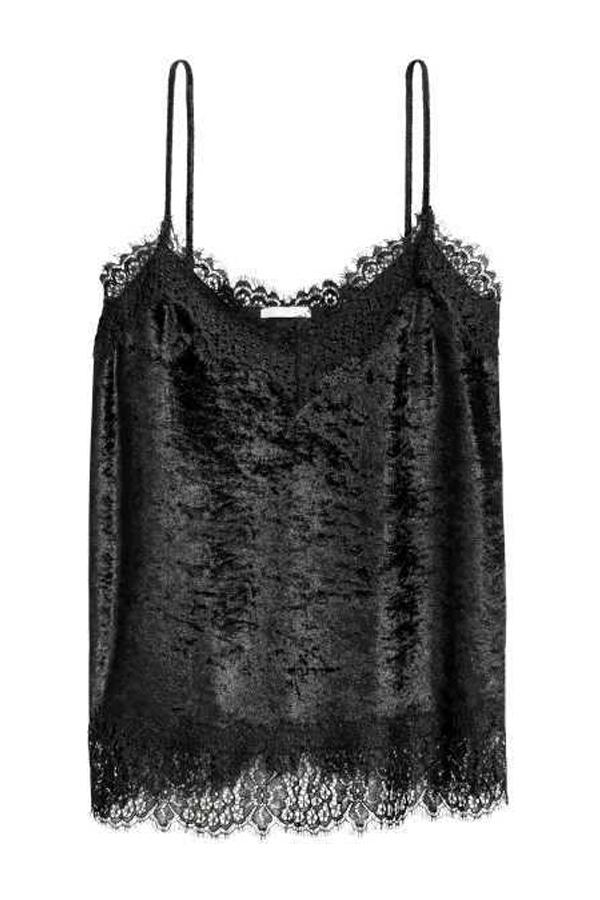H&M Crushed-velvet Camisole Top