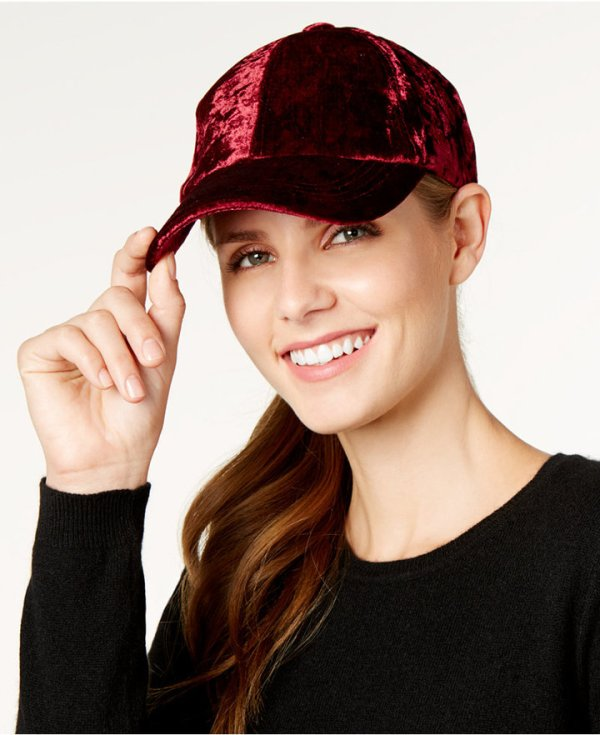 Inc International Concepts Crushed Velvet Baseball Cap