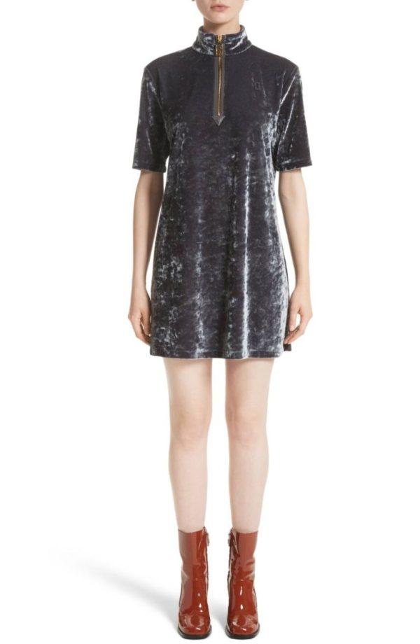 Marc Jacobs Crushed Velvet Shift Dress