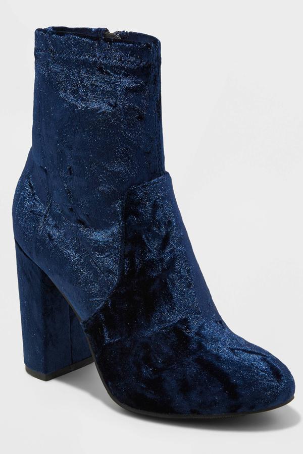 Mossimo Supply Co. Women's Dania Crushed Velvet Sock Booties