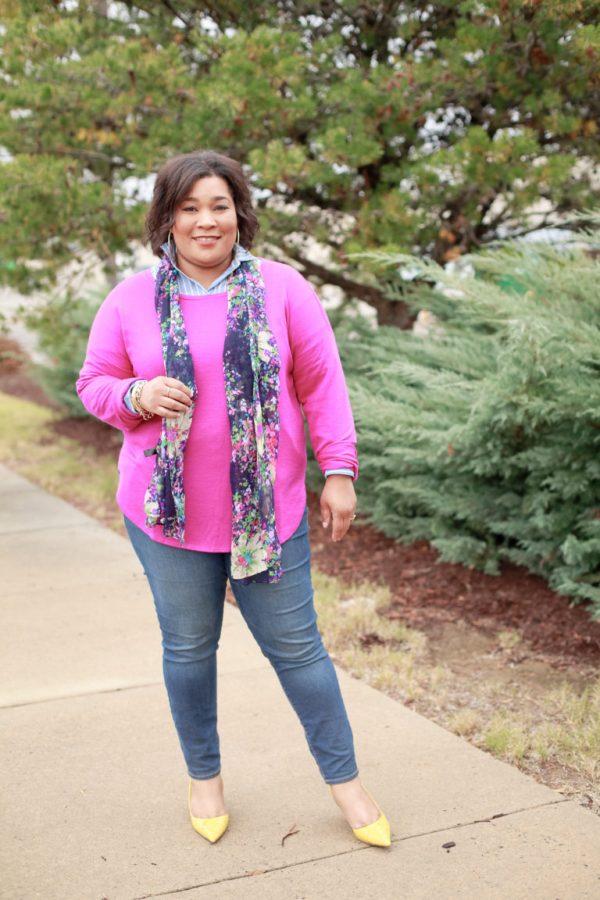 Pink-Sweater-Denim