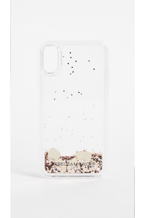 Rebecca Minkoff Guitar Pick Glitterfall iPhone X Case